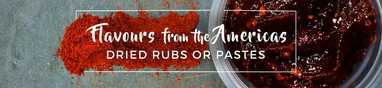North American dried rubs and pastes - Flavours from the Americas