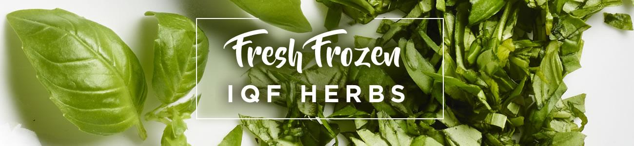 Fresh, Frozen IQF Herbs - Bowlander Ingredients for Perfection